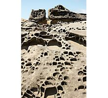 Tafoni Dwellings Vertical Photographic Print