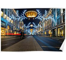 Regent Street Christmas Lights Poster