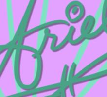 Ariel Symbol & Signature Sticker