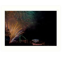 Fireworks on the Thames Art Print