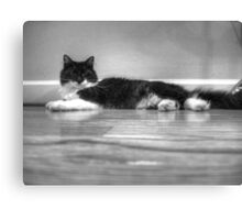 Contemplative Tux Canvas Print