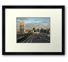 Leaving Oslo ( 2 ) Memories of the Twin Towers Framed Print