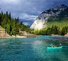 Bow River in Banff by Charles Kosina