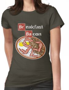 Breakfast Bacon Womens Fitted T-Shirt