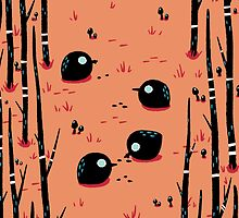 Black Birds in the Forest by knitetgantt