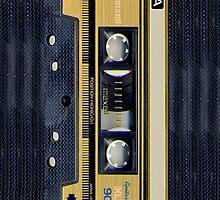 Classic Retro Maxell Gold cassette Tape by Johnny Sunardi
