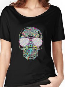 Skull Color Waves Women's Relaxed Fit T-Shirt