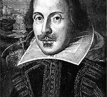 William Shakespeare Black White   Wighte.com by FreshThreadShop