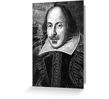 William Shakespeare Black White | Wighte.com Greeting Card