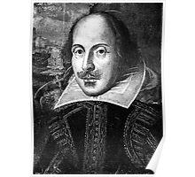 William Shakespeare Black White   Wighte.com Poster