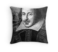 William Shakespeare Black White | Wighte.com Throw Pillow