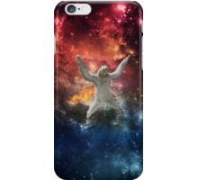 Sloth flying through space iPhone Case/Skin