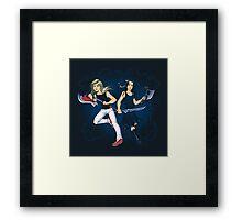 Axe Sisters Framed Print