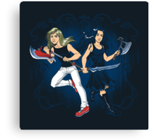 Axe Sisters Canvas Print