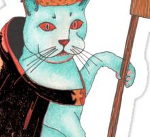 cat as king Sticker
