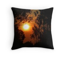 Sunset - Zambia Throw Pillow