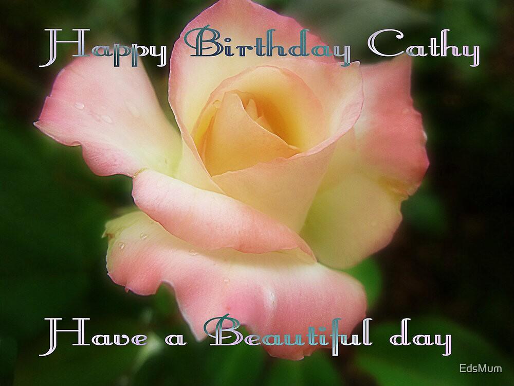 Rose Birthday Card by EdsMum