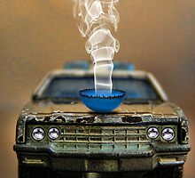 Smokin' Cop Car by GolemAura