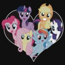 chest heart ponies  by timothy hance