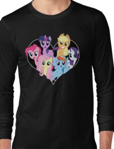 chest heart ponies  Long Sleeve T-Shirt