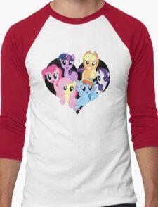 chest heart ponies  Men's Baseball ¾ T-Shirt