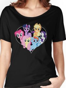 chest heart ponies  Women's Relaxed Fit T-Shirt