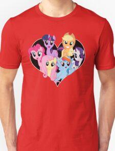 chest heart ponies  Unisex T-Shirt