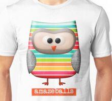 Amazing Amazeballs Striped Owl Unisex T-Shirt