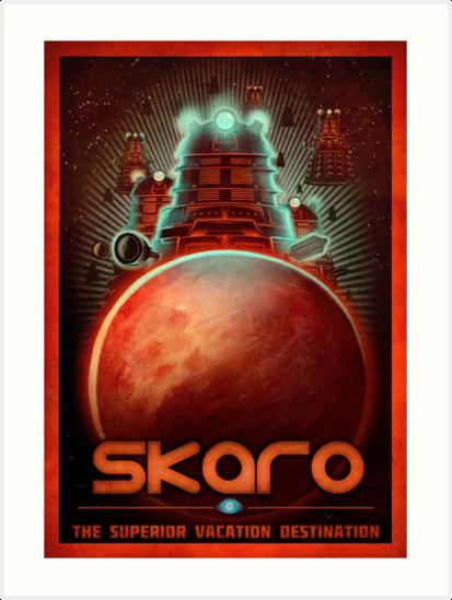Skaro Travel Postcard by MeganLara