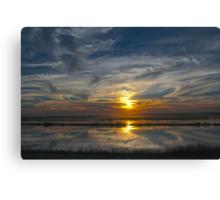 Levee Sunset Canvas Print