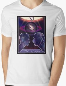 """The Lovers"" Tarot Card Shirt (Saturn!) Mens V-Neck T-Shirt"