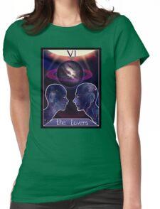 """The Lovers"" Tarot Card Shirt (Saturn!) Womens Fitted T-Shirt"