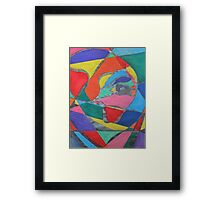 Colorful Trapped Eye Framed Print