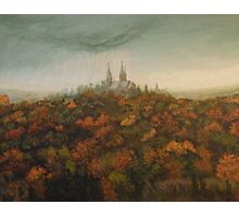 Holy Hill Rain Storm Photographic Print