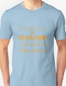 Pixels or Emulsion T-Shirt