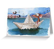 Sailor on the lake Greeting Card