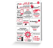 The Lizzie Bennet Diaries Quotes Poster Greeting Card
