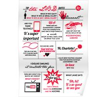 The Lizzie Bennet Diaries Quotes Poster Poster