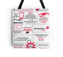 The Lizzie Bennet Diaries Quotes Poster Tote Bag