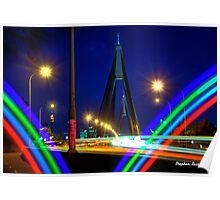 The Anzac Bridge from Glebe Poster