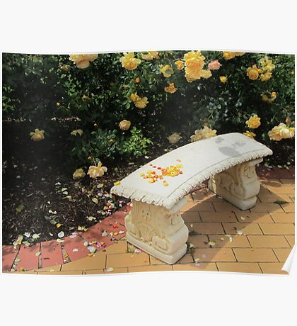 Rosy Bench Poster