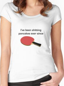 Beerfest - Shitting pancakes Women's Fitted Scoop T-Shirt
