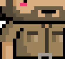 Pixel Walking Dead - Rick Sticker