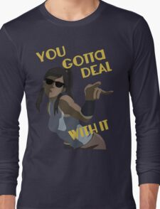 LoK - Korra Deal With It (No Outline) Long Sleeve T-Shirt