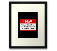 My Name is PERCIVAL.... - Critical Role Design Framed Print