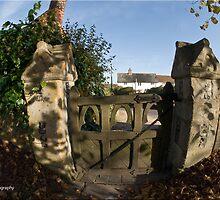 Church yard gate by Jim Nicholson