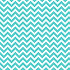 Turquoise Chic Chevron Pattern by superstarbing