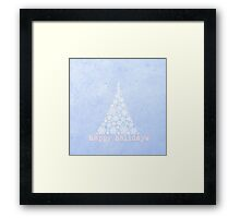Blue Happy Holidays Design Framed Print