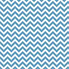 Blue Chic Chevron Pattern by superstarbing