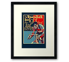 Retro Cycling Print Poster Hard as Nails  Framed Print
